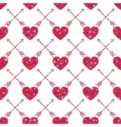 Valentine Heart Seamless Pattern 1 vector image