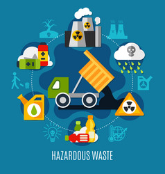 Waste and pollution concept vector