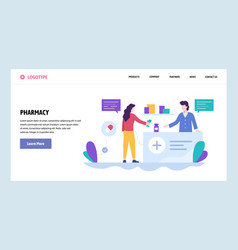 Web site design template woman buy drugs vector