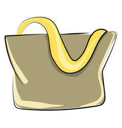 woman bag on white background vector image