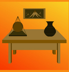 workplace office cabinet comfortable place for vector image