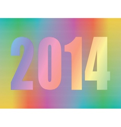 Year 2014 hologram vector