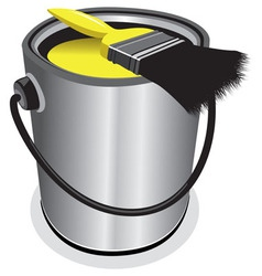 Yellow paint vector