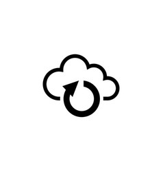 cloud sync flat icon vector image