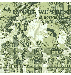 Grunge Dollar Bill vector image