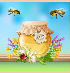 insects bees realistic vector image vector image