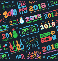 2018 new year calendar christmass logo text vector image