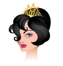 beauty woman in tiara vector image vector image