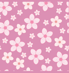 cherry blossom flowers seamless pattern vector image