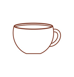 Cup coffee porcelain design vector