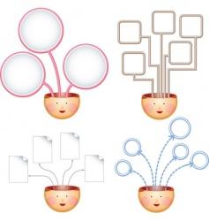 ideas charts vector image vector image
