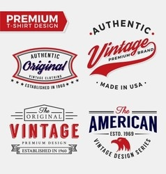 Set Of Premium Apparel T-Shirt Design vector image
