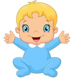 Cartoon happy baby boy vector