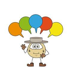 emoticon and speak bubbles vector image vector image