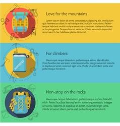 Rock climbing flat color vector image vector image