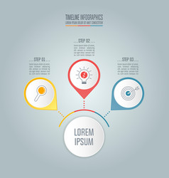 timeline business concept with 3 options vector image vector image