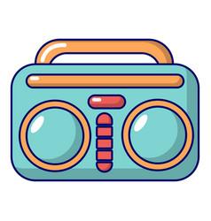 vintage boombox icon cartoon style vector image