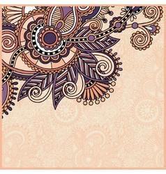 vintage floral ornamental template on flower vector image