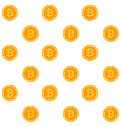 bitcoin seamless pattern vector image
