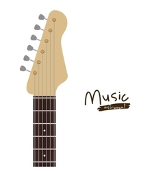 handle electric guitar isolated icon design vector image vector image