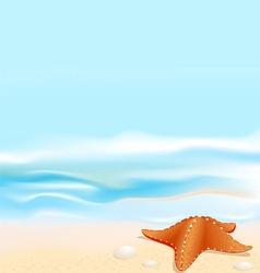 marine landscape vector image vector image