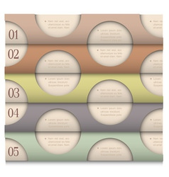 Retro Design template with circles vector image vector image