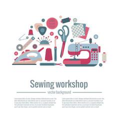 sewing workshop concept vector image