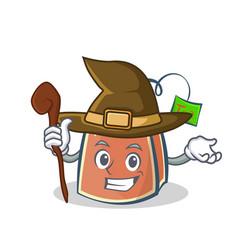 witch tea bag character cartoon art vector image