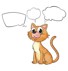 A brown cat with empty thoughts vector