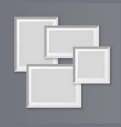 a set realistic photo frames for placing images vector image