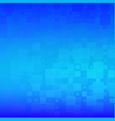 Azure blue glowing rounded tiles background vector