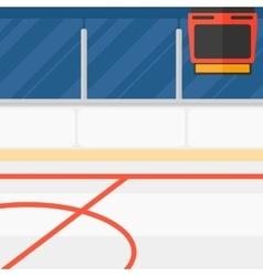 Background of hockey stadium vector