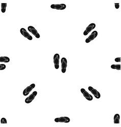 Beach thongs pattern seamless black vector