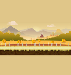 Beautiful countryside farm background for games vector