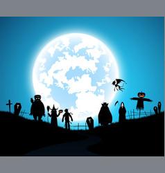 blue backgroundfestival halloween concept vector image