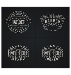 Bundle of four retro emblems for Barber Shop vector