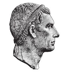 Bust of julius caesar vintage vector