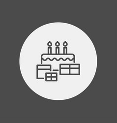 cake icon sign symbol vector image