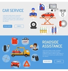 Car Service Banners vector image