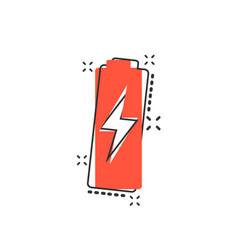 cartoon battery charge level indicator sign icon vector image