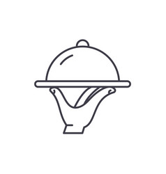 catering line icon concept catering linear vector image