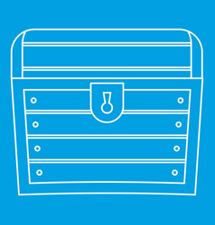 chest icon outline style vector image