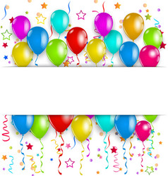 Colourful party balloons confetti with space for vector image