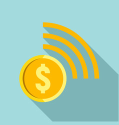 Contactless payment icon flat style vector