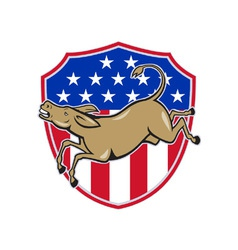Democrat Donkey Mascot American Flag vector image