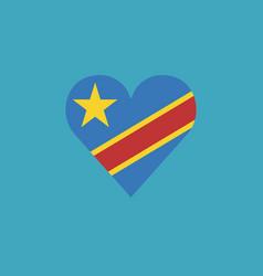 democratic republic of the congo flag icon in a vector image