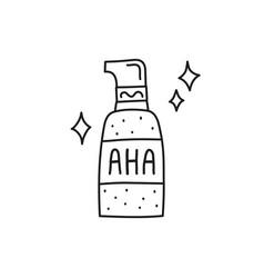 Doodle aha in cosmetic bottle vector