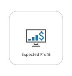Expected Profit Icon Business Concept Flat vector image