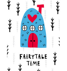 fairytale poster vector image