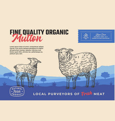 Fine quality organic mutton abstract meat vector